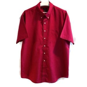 Van Heusen shirt classic fit top check print XXL
